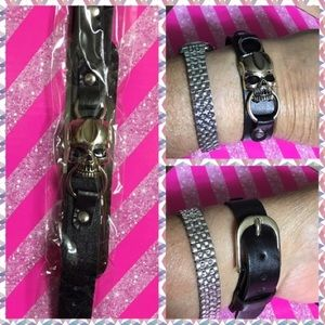 Jewelry - ☠️HIS/ HERS SKULL LEATHER BRACELET w/BUCKLE CLOSER